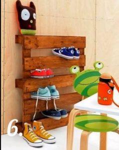 Organizador de zapatos con palets