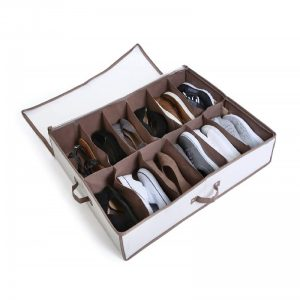 Organizador de zapatos debajo de la cama